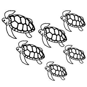 SEA TURTLE FAMILY CUSTOM CARS WINDOW LAPTOP VINYL DECAL STICKER - Family decal stickers for cars