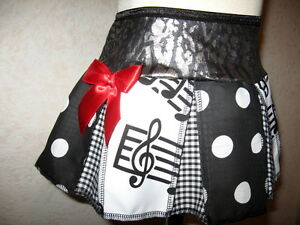 NEW Black red White music spotted check leopard Skirt Gift Party  plus sizes