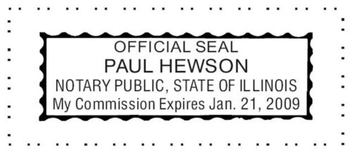 ILLINOIS Custom Pre-Inked OFFICIAL NOTARY SEAL RUBBER STAMP Office use