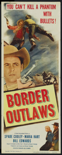 Border Outlaws Spade Cooley Cult Western movie poster print