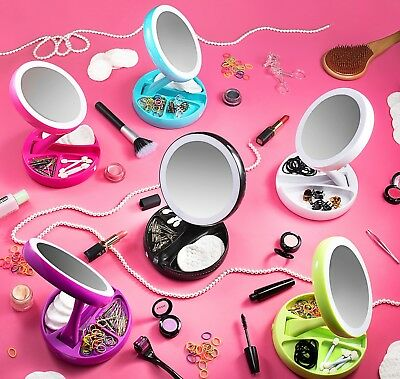 My Fold Away Mirror The Lighted Double Sided Vanity Makeup