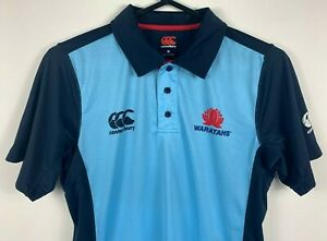 Canterbury-Waratahs-NSW-Rugby-Union-Polo-Shirt-Men-039-s-Size-Medium-M