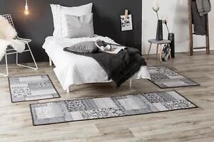 Das Bild Wird Geladen Betturmandung Teppich Kurzflor Vintage Modern Lila  Beige Grau