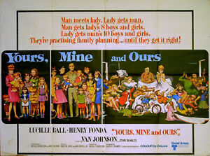 YOURS, MINE AND OURS 1968 Lucille Ball Henry Fonda FRANK FRAZETTA ...