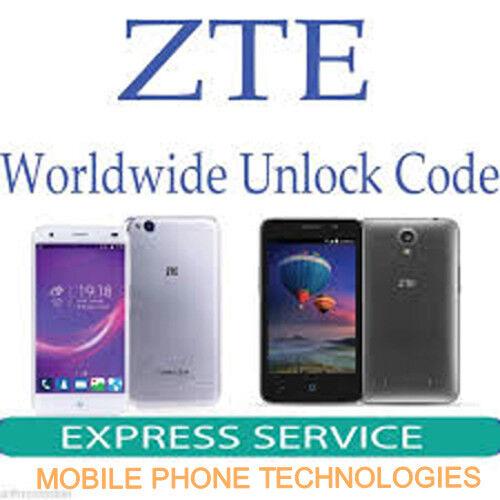 Unlock Code Unlocking Sim Network Unlock Pin ZTE GENERIC Fast Service  Worldwilde