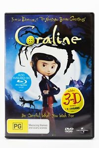 Coraline Be Careful What You Wish For DVD With 3D Glasses Region 4 Australia