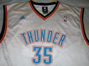 Kevin Durant 35 Oklahoma City Thunder OKC NBA adidas White Jersey ... 973d5c7d8