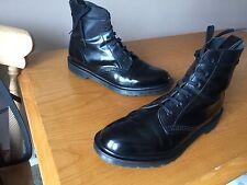 Dr Martens Arthur Black boanil boots UK 8 EU 42 punk skin goth England
