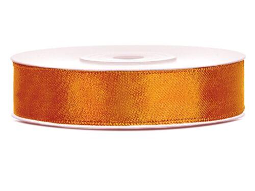 Satinband Magma Orange 12 mm 25 m Schleifenband Geschenkband Dekoband