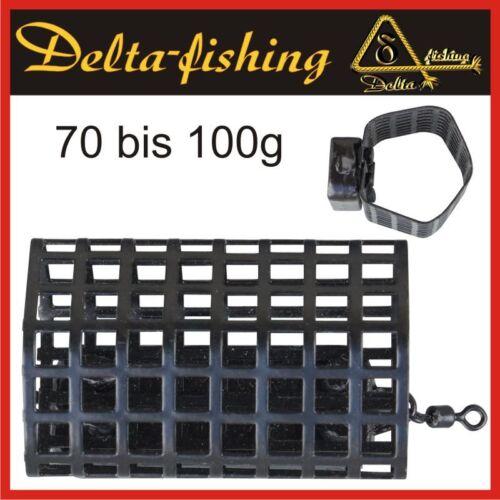 DELTA FISHING Hexa Futterkorb Angel Korb Feeder Korb Blei 70 bis 100G