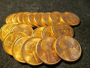 1952-S LINCOLN WHEAT CENT PENNY 50 COIN ROLL CIRCULATED