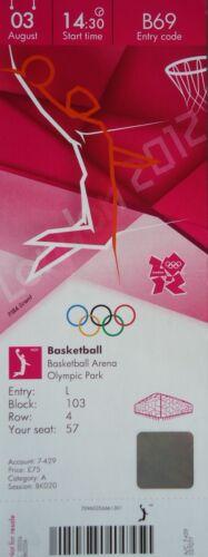 Kanada B69 TICKET Olympia 3.8.2012 Women/'s Basketball Brasilien