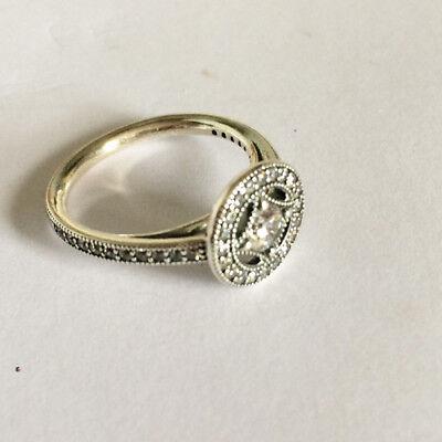Genuine Pandora Vintage Allure Ring Ring 191006cz Free