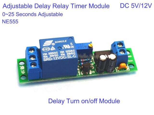 Dc 5v 12v Adjustable Timer Delay Turn On Off Switch Car
