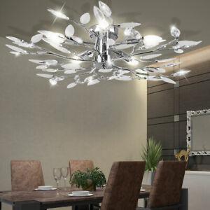 LED Chrom Wand Leuchte Glas Blätter Wohn Zimmer Design Beleuchtung Flur Lampe