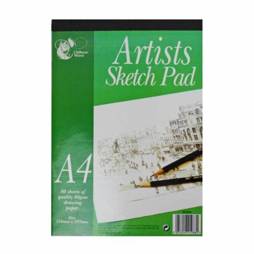A4 Art Sketch Pad Spiral//Tape BoundGraded//Water Colour//Charcoal Art Pencils