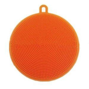 Orange-Silicone-Soft-Bowl-BrushDouble-Side-Brush-Head-Multifunction-Brush-Clean