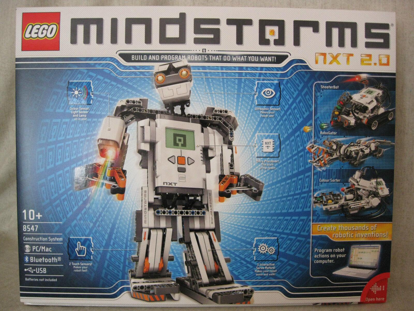 B N Lego 8547 Mindstorms NXT 2.0. Still Sealed. Discontinued Set. UK Version.