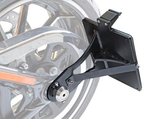 seitlicher Alu Kennzeichenhalter 180x200 Harley Davidson Softail 2017 zugelasse