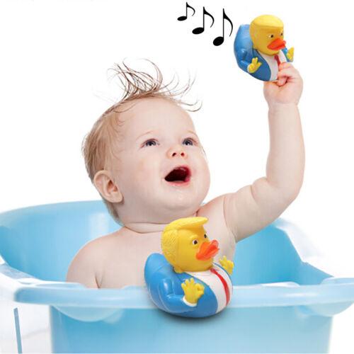 1 stück Donald Trump Ente Gummi PVC Ente Bad Quietschende Baby Kinder Tiere YG