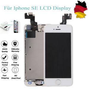 Fuer-iPhone-SE-LCD-DISPLAY-RETINA-KOMPLETT-VORMONTIERT-Front-Weiss-White-Neu