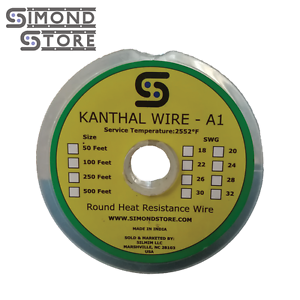 50 ft 22 gauge swg a1 kanthal round wire 0711 mm 816183023541 ebay image is loading 50 ft 22 gauge swg a1 kanthal round greentooth Gallery