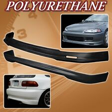 FOR 92-95 CIVIC 3DR T-M POLY URETHANE PU FRONT REAR BUMPER LIP SPOILER BODY KIT