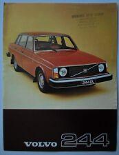 VOLVO 244 1977 UK Mkt Sales Leaflet Brochure - DL GL