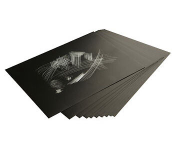 Essdee Scraperfoil Black coated Rainbowfoil 152x101mm Pack of 10 Sheets