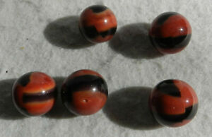 #11213m Vintage Group of Marble King Brown Cow Marbles
