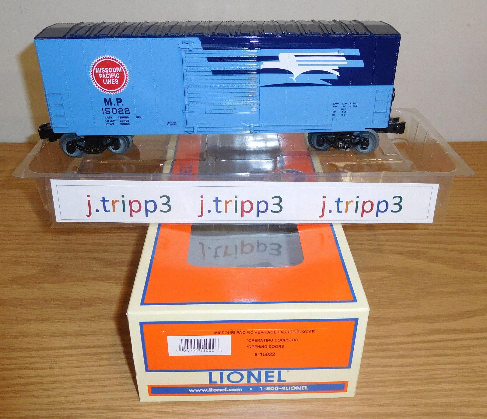 LIONEL 6-15022 MISSOURI PACIFIC LINES MP HERITAGE HI-CUBE BOXCAR TRAIN O GAUGE