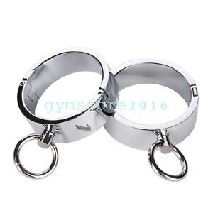 Heavy-Duty-Steel-Cuffs-Anklets-set-Handcuff-Restraint-Slave-Shackle-Bondage-Tool