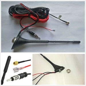 Car-DAB-DAB-Radio-Aerial-Amplified-Roof-Mount-Antenna-AM-FM-SMA-Male-Connector