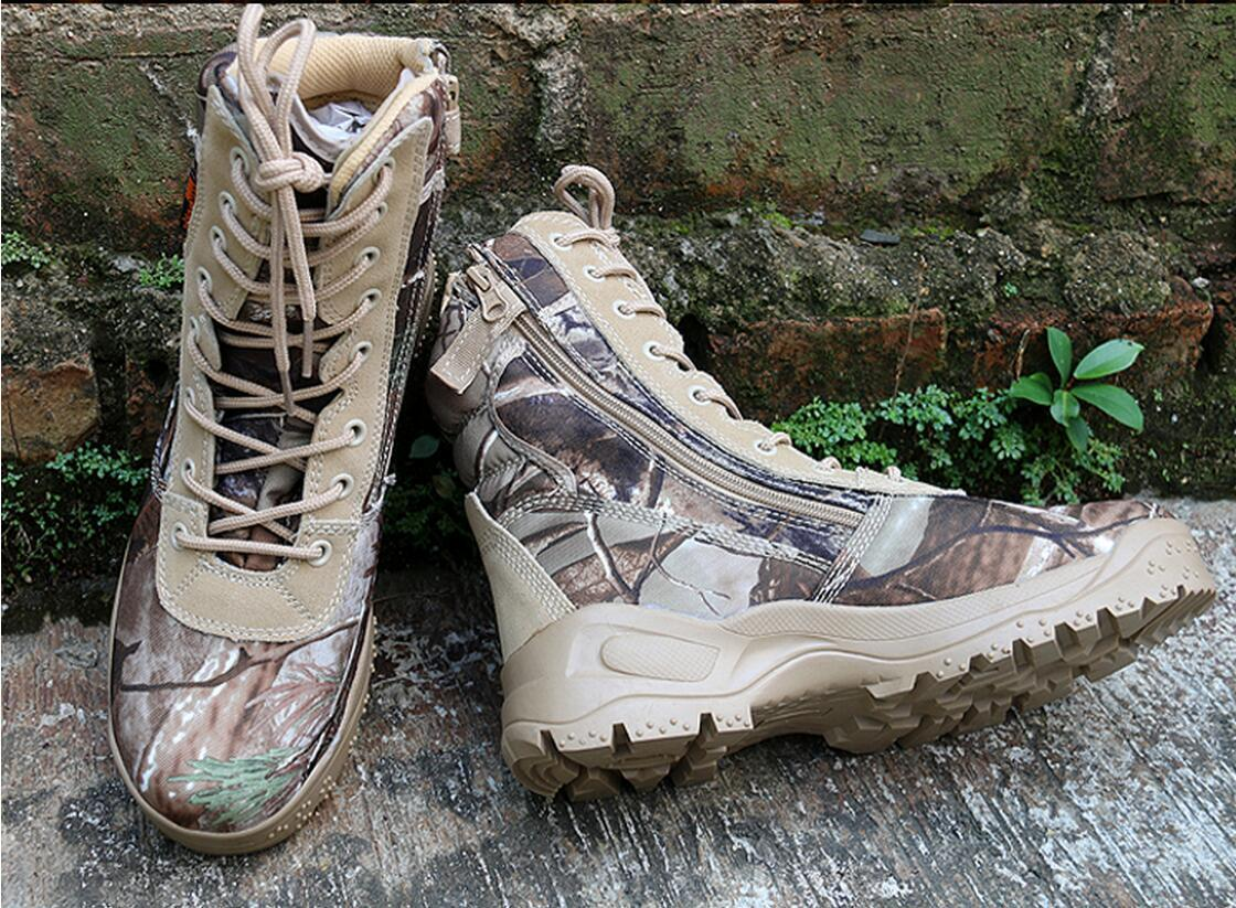 Outdoor Tactical Hunting Boots Bionic Camouflage shoes for Climbing Hiking 39-44