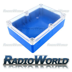 Multi-Purpose-Waterproof-DIY-Project-Box-Enclosure-Case-IP65-ABS-Blue-Clear