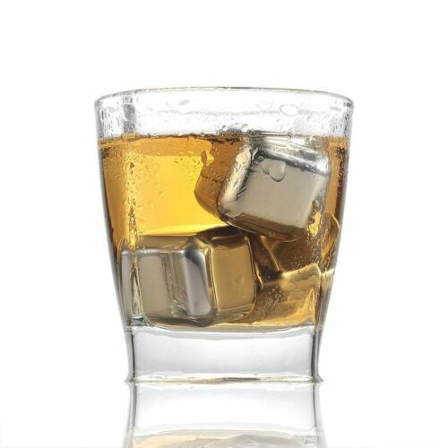 Stainless Steel Whiskey Stones Ice Stone Cubes Cooler Wine Rock Chilling Freezer