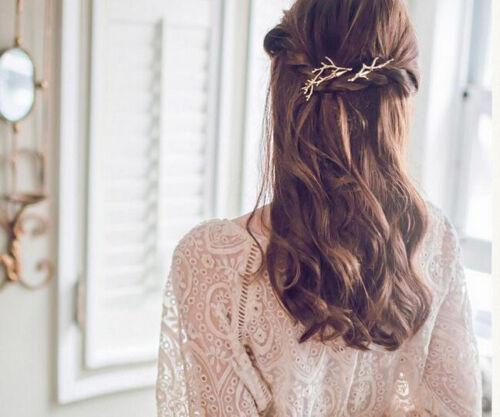 Branche Twig Forme Pince À Cheveux Argent Or PIN Femmes Cheveux Accessoire Diapositive grip GIFT