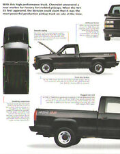 1991 Chevrolet 454 SS Pickup Truck Article - Must See !!