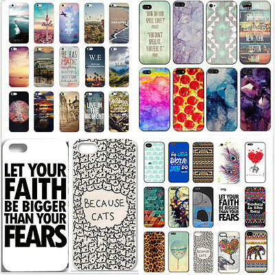New Painted Various Cute Pattern Hard Back Case Cover for iPhone 4S 5 5S 5C 6