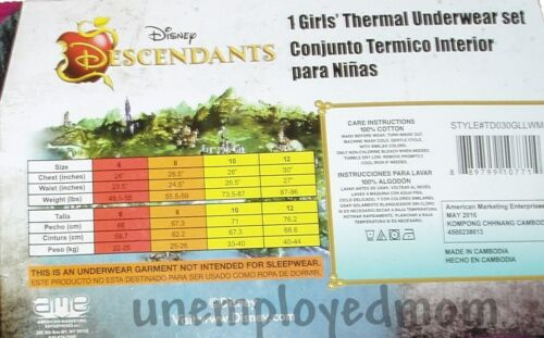 Thermal Underwear 2 pc Set Waffle Long Sleeve Crew Pants Girls Base layer Youth
