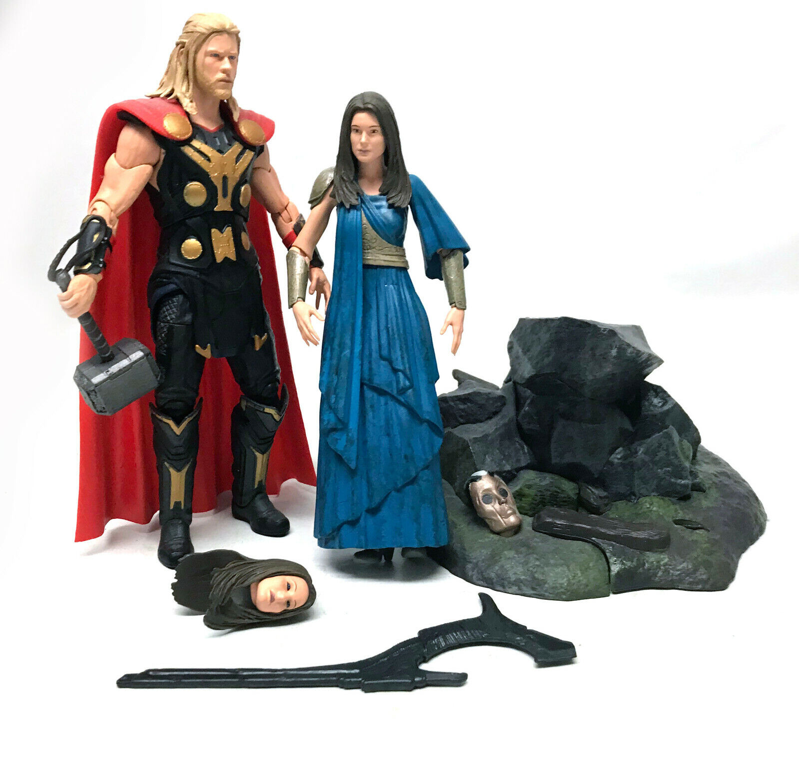 Marvel Comics Select Avengers THOR & JANE FOSTER 7  figures complete set of 2