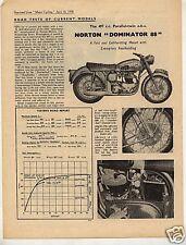 N°318 /  NORTON : prospectus  roadtest  497cc  type  88