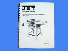 Jet Jwts 10 Table Saw Operator Instruction Amp Parts Manual 175