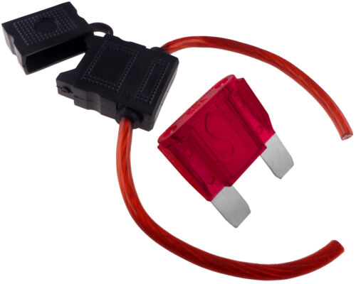 Maxi Blade Inline Fuse Holder 8 Gauge AWG Wire Waterproof Cover Free 50 Amp Fuse
