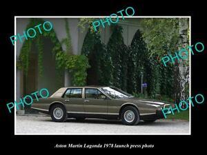 OLD-LARGE-HISTORIC-PHOTO-OF-ASTON-MARTIN-LAGONDA-1978-LAUNCH-PRESS-PHOTO