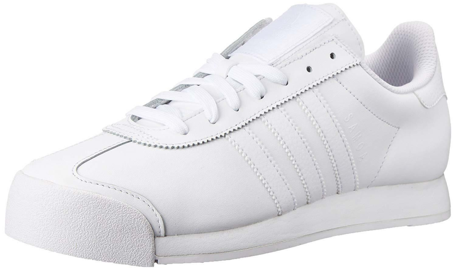 adidas Originals Men's Samoa Retro Sneakers, White/White/Light Grey, 11.5 M US Great discount