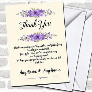 Fl Rustic Wedding Thank You Cards