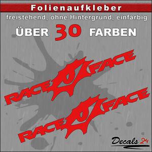 2er-SET-RACEFACE-Sponsoren-Folienaufkleber-Auto-Motorrad-30-Farben-12cm