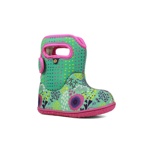 10c Girls Bogs Wellington Boots Baby Reef 72297 Waterproof Insulated Fur Lined
