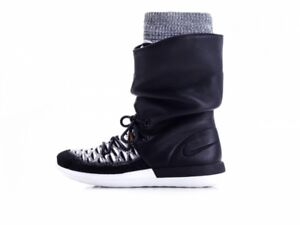 online store 409c1 771bd Image is loading NIKE-ROSHE-TWO-HI-FLYKNIT-WOMEN-BOOTS-861708-